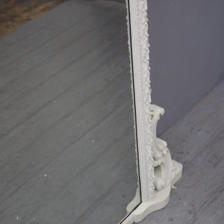 Victorian Grey Painted Pine and Gesso Overmantel Mirror