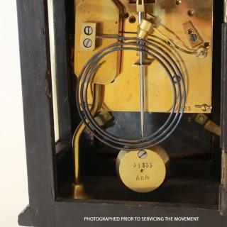 Ebony and Ivory Religieuse Mantel Clock