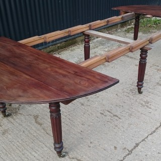 Early Nineteenth Century French Mahogany Extending Pembroke Dining Table