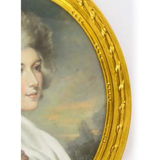 Antique Pair French Pastel & Gouache Portraits Mid 19th Century