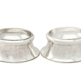 Sterling Silver Trencher Salts - Antique George II (1728)