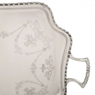 Antique Sterling Silver 25″ Tray 1912