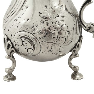 Antique Early Victorian Sterling Silver Jug 1842