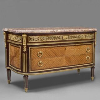 A Louis XVI Style Gilt-Bronze Mounted Commode