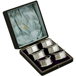Sterling Silver Napkin Rings - Antique Edwardian (1902)