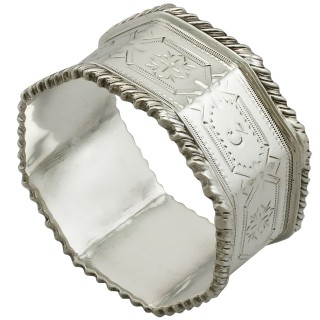 Sterling Silver Napkin Rings - Antique Edwardian (1902)