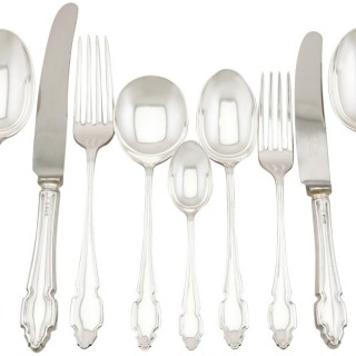 Sterling Silver Canteen of Cutlery for Six Persons - Vintage (1964)