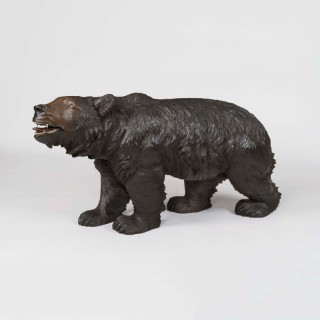 A Very Large Black Forest Carving of a Bear