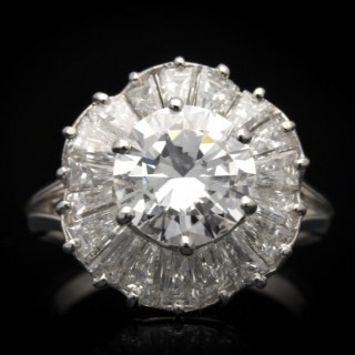 Mauboussin ballerina diamond ring, French, circa 1950