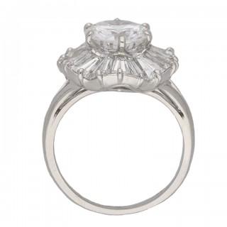 Mauboussin ballerina diamond ring, French, circa 1950