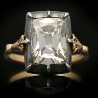Georgian old mine solitaire diamond ring, circa 1830.