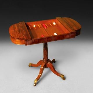 Regency Period Rosewood Games table