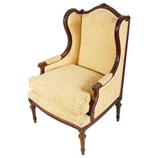 French Walnut Fauteuil Arm Chair