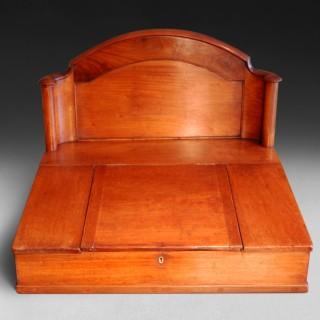 19th. Century Mahogany  Clerk's Tally Desk