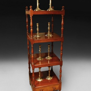 George III Period Mahogany four tier whatnot