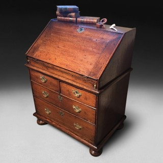 Small Queen Anne Period Oak Bureau