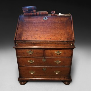 Small Queen Anne Period Oak Bureau