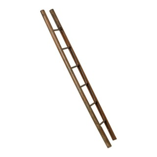 Victorian Teak Folding Pole Library Ladder