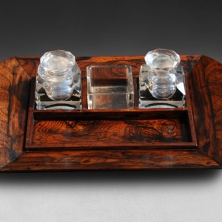 Early 19th century Rosewood Desk Piece with original  bottles etc