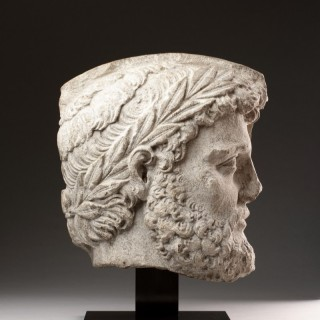 Florentine Renaissance Carved Limestone Architectural Relief Fragment