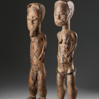 Two West African Cote d'Ivoire Baule Spirit Figures