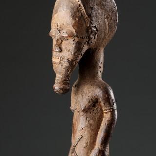 Two West African Cote d'Ivoire Baule Spirit Figures