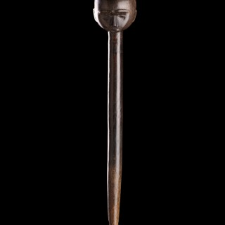 Exceptionally Rare South African Tsonga / North Nguni Black Rhinoceros Horn Prestige Staff or Sceptre