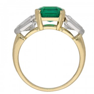 Art Deco Colombian emerald and diamond ring, circa 1930.