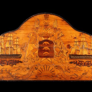 Interesting Fine Stern Board of a Diplomatic Austrian Ships Dinghy