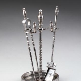 Russian Tula Miniature Steel Fire Irons
