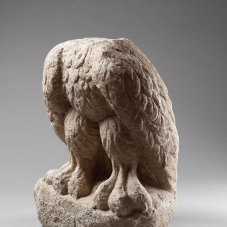 Impressive Ancient Roman Eastern Empire Carved Marble Figure of an Imperial Eagle