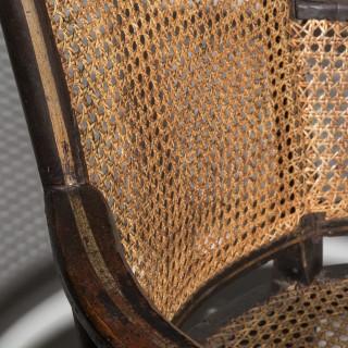 Ex- Nancy Lancaster Regency Painted Bergere Armchair