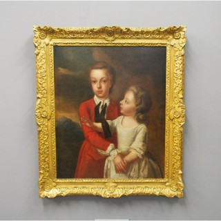 Georgian Portrait of a Brother and Sister