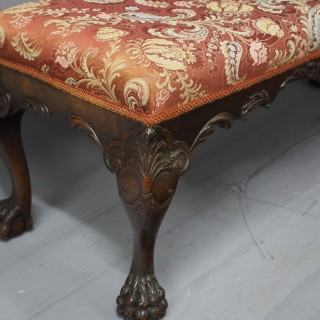 George III Chippendale Style Mahogany Stool