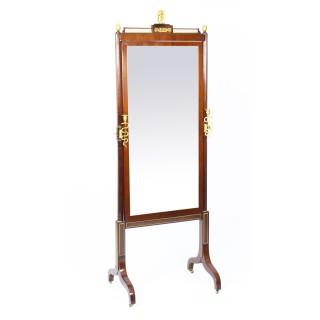 Antique Russian Empire Revival Cheval Mirror Royal Provenance 19th Century