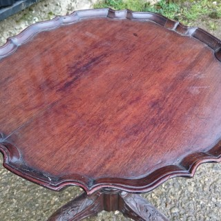 18th Century George III Period Mahogany Antique Tripod Wine Table