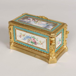 A 19th century Porcelain Jewel Casket in the Louis XVI Manner