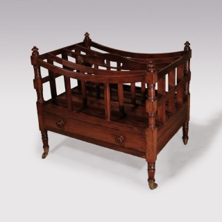 Early 19th Century Regency Rosewood Canterbury