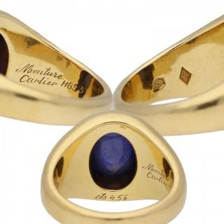 Vintage Monture Cartier Burmese sapphire ring, circa 1970.