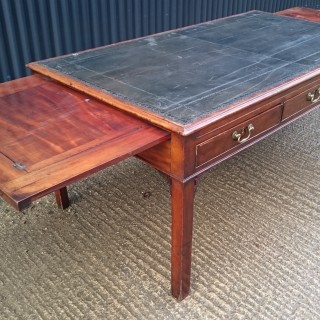 Large 18th Century George III Period Mahogany Library Table