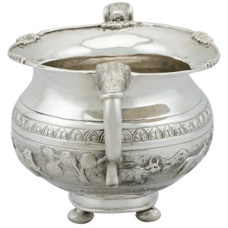Indian Silver Sugar Bowl - Antique Circa 1920