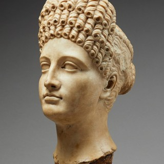 Marble Head of Roman Empress, Italy, 18th/early 19th century