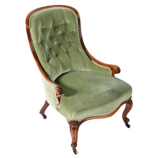 Victorian Walnut Slipper Chair
