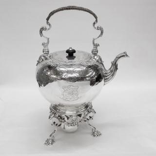 Georgian Silver Tea Kettle