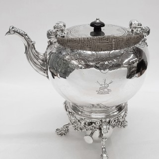Georgian Silver Tea Kettle