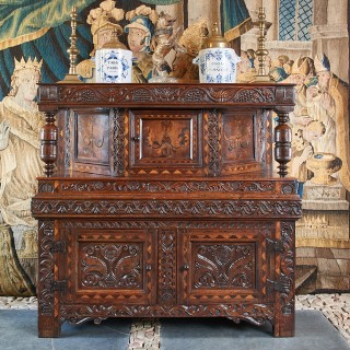 James I canted press cupboard