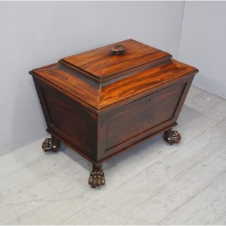 George IV Mahogany Sarcophagus Wine Cooler