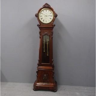 Victorian Mahogany Drum Head Longcase Clock by W. C. Shaw, Glasgow