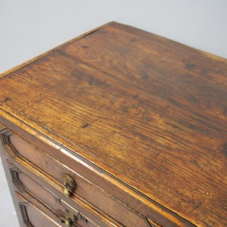 Charles II English Oak Chest of Drawers