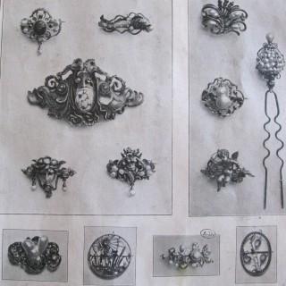 KARL ROTHMÜLLER Jugendstil Medusa Brooch